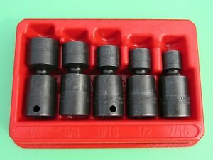 Snap On 205ipf Impact Swivel Socket Set Ipf14c Ipf16c Ipf18c Ipc20c 24c 7 16 3 4