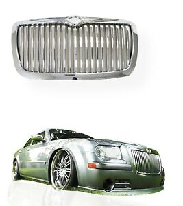 Fits 2005 2010 Chrysler 300 300c Front Chrome Vertical Abs Replacement Grille