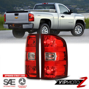 For 07 13 Chevy Silverado 1500 2500 3500 Red Clear Tail Brake Lamp Left Right