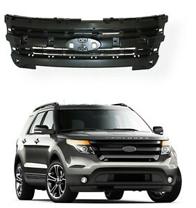 For 2011 2015 Ford Explorer Front Inner Grill Grille Mounting Header Panel Black