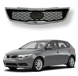 Fits 2011 2012 2013 Kia Forte Sedan Front Upper Grill Grille Assembly Chrome
