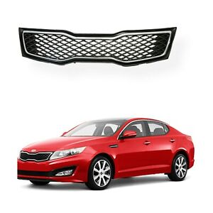 For 2011 2012 2013 Kia Optima Sx Sxl Turbo Chrome Front Upper Bumper Grille
