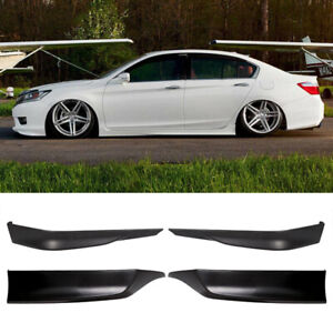Front And Rear Bumper Lip Splitter Fits 13 15 Honda Accord Hfp Style