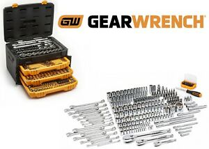 Gearwrench 243 Piece 6 Point Socket Tool Set 1 4 3 8 1 2 New Free Shipping