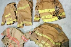 Lot Of 5 40 44 42 Janesville Firefighter Turnout Jackets Coats With No Liners 1