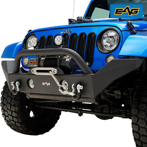 Eag Rock Crawler Front Bumper With Winch Plate Fit For 07 18 Jeep Wrangler Jk