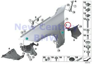 Bmw Genuine Front Side Panel Mounting Parts Front Left Side Panel F15