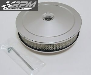 10 X 2 Chrome Air Cleaner Round Filter Ford Chevy Holley Edelbrock New