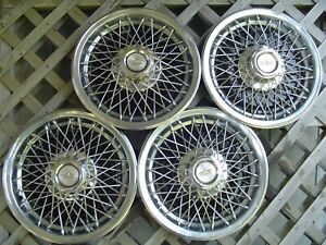 1977 1978 1979 Chevy Chevrolet Impala Caprice Hubcaps Wire Wheel Covers Vintage
