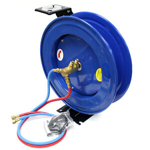 50ft Automatic Retractable Twin Hose Reel For Welding Hoses Oxygen Acetylene