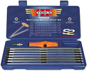 Vim Tools Tpxl08 5 Point Extra Long Security Driver Set