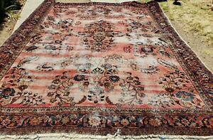 Gorgeous Vintage Wool 108 X 132 Inches Hand Knotted Persian Oriental Rug