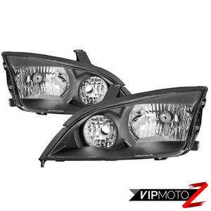 05 07 Ford Focus factory Style Black Headlight Driving Signal Lamp Replacement