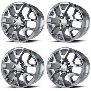 20x9 Chrome Wheels Oe Creations Pr150 6x5 5 6x139 7 27 set Of 4