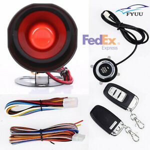Us Stock Passive Keyless Entry Remote Engine Start Push Button Car Alarm System
