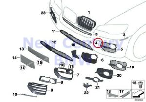 Bmw Genuine Front Bumper Mounting Parts Primered Left Tow Fitting Cover E71 E72