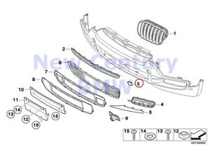 Bmw Genuine Mounted Parts Bumper Towing Eye Left Flap E70