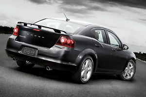 08 14 Dodge Avenger Unpainted Base Color Rear Trunk Wing Spoiler Oe Style Abs