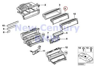 Bmw Genuine Storing Partition Mounting Parts Front Insert With Cover E46