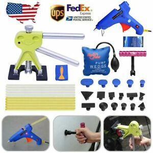 Us Pdr Paintless Dent Removal Puller Lifter Tap Down Hammer Car Repair Tools Kit
