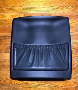 Bmw E32 E34 Passenger Side Front Seat Back Panel With Pocket In Black Leather