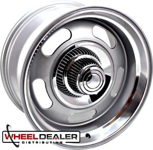 17x8 17x9 Silver Rev Classic 107 Rally Wheels Chevy Gmc C10 Truck Swb Lwb 5x5