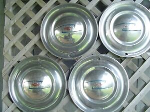 Vintage 1949 49 Chevrolet Chevy Deluxe Coupe Styleline Fleetline Hubcaps 15 In
