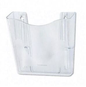 Case Of 6 Clear Deflecto Docupocket Portrait Wall File Pocket A4 magazines