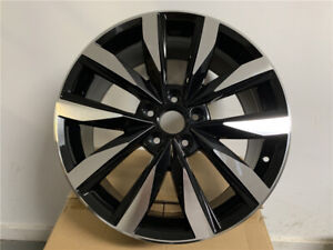 18x8 0 Black Machine Face Gt Style Rims Wheels Fits Passat Avant Eos Gli Vw
