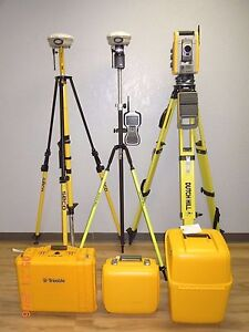 Trimble Is Solution S6 Robotic Total Station R8 Model 2 Gps Gnss Rtk Set Tsc3