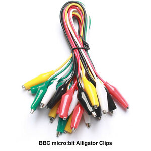 10 Pieces And 5 Colors Alligator Clips Test Lead Jumper Wires For Bbc Micro bit