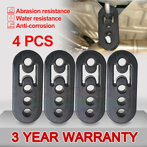Us Performance Polyurethane Adjustable Muffler Black Exhaust Hangers Universal 4