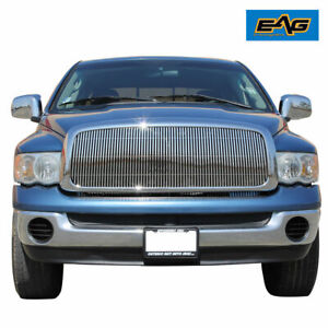 Eag Fit For 02 05 Dodge Ram 1500 03 05 2500 3500 Chrome Billet Grille W Shell