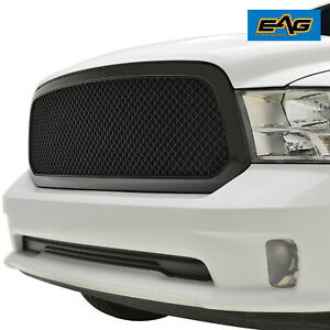 Eag Mesh Grille Front Grill Replacement Abs Fit 13 18 Dodge Ram 1500