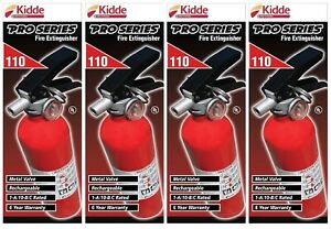4 Kidde Pro Series 110 Fire Extinguisher Metal Valve Rechargeable Red