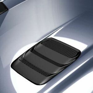 Fits 18 20 Ford Mustang Air Design Custom Style Hood Vents Satin Black Fo24a06
