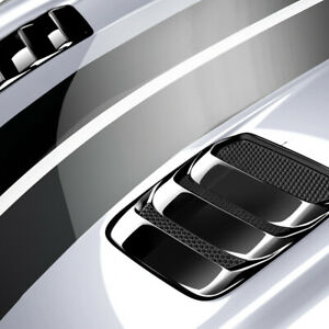 Fits 18 20 Ford Mustang Air Design Custom Hood Vents Shadow Black New Fo24a06ab