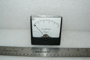 Simpson Electric 1327 Dc Wide vue Style 0 5 Dc Amperes Gauge Gage