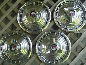 1963 Ford Galaxie 500 Fairlane Hubcaps Wheel Covers Center Caps Antique Classic