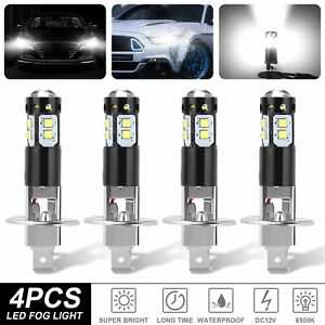 4x H1 200w Super Bright Cree Led Headlight Fog Driving Drl Bulbs Kit 6500k White