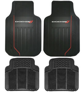New Dodge Elite Front Rear Back Car Truck Suv All Weather Rubber Floor Mats
