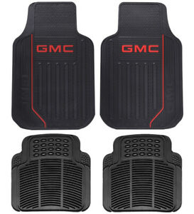 New Gmc Elite Front Rear Back Car Truck Suv All Weather Rubber Floor Mats