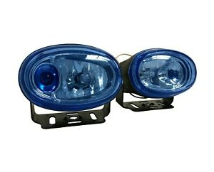 3 Universal Fog Light Glass Lens Ultra White With Blue Spot Light And Wiring