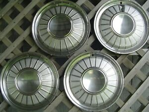 1961 61 1962 62 Ford Thunderbird T Bird Hubcaps Wheel Covers Center Cap Vintage