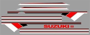 Suzuki Samurai Decals Lines Stickers Calcomanias Graficas White Red