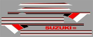 Suzuki Samurai Decals Lines Stickers Calcomanias Graficas White Red Black 3m