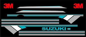 Suzuki Samurai Decals Lines Stickers Calcomanias Graficas Tourq Gray