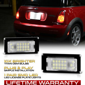 Cool White Smd Led License Plate Lights Lamps Housing Mini Cooper R50 R52 R53