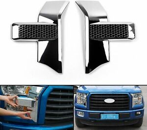 Abs Red Front Headlight Decor Cover Trim For Ford F 150 2015 2017 Accessories