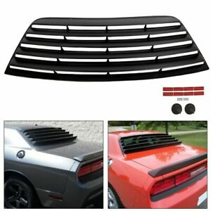 Rear Window Scoop Louver Sun Shade Cover Abs For 08 19 Dodge Challenger